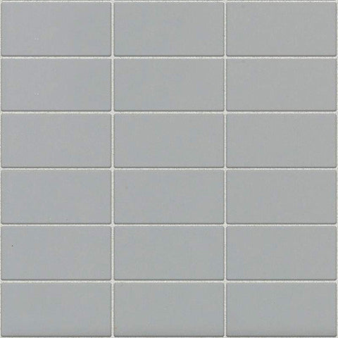 Daltile Modern Dimensions Matte Desert Gray 2 x 4 Straight-Joint Mosaic