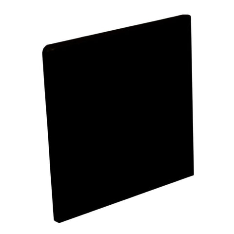 "Color Collection Bright 3X6 3"" Black Surface Bullnose"