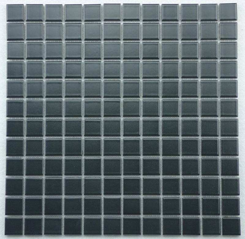 Roca Tile USA 12x12 Mg BlackCc Mosaics - Glazed Porcelain - American Fast Floors