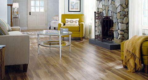 "Tarkett LVT Qrtr-Mix Oak 6"" Plank Wheat"