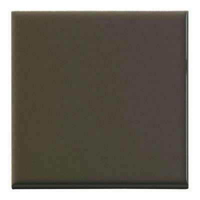 "Color Collection Bright 4-1/4""X4-1/4"" Cocoa Surface Bullnose"