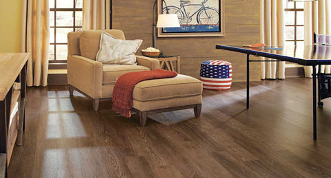 "Tarkett LVT Flamed Oak 6"" Plank Pewter - American Fast Floors"