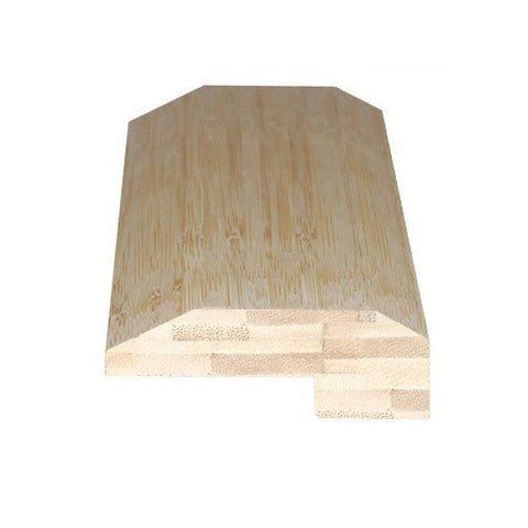 Solid Traditional Bamboo Tongue & Groove Natural Horizontal End Moulding