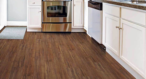 "Tarkett LVT Tibur Stone 16"" Groutless Tile Red - American Fast Floors"