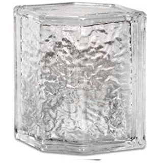 "Daltile Glass Block 7-3/4"" x 5-3/4"" Decora Hedron Corner Unit"