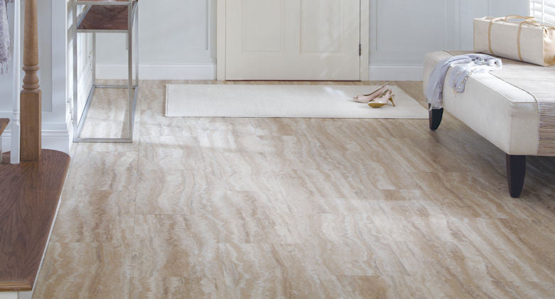 "Tarkett LVT Glaze 16"" Tile Wheat - American Fast Floors"