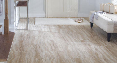 "Tarkett LVT Travertine 16"" Tile Weathered Beach - American Fast Floors"