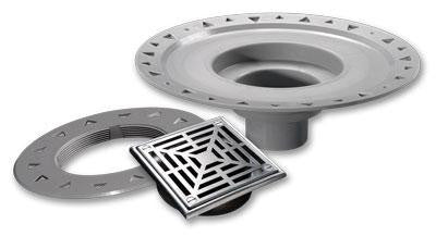 Laticrete  Hydro Ban Bonding Flange Drain (5x5in Orb Abs) - American Fast Floors