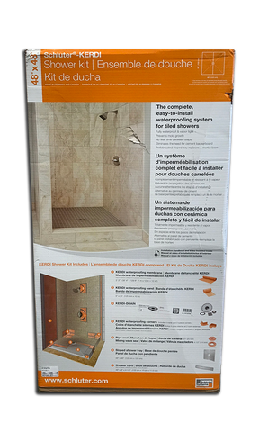 Schluter Kerdi Shower Kit Center Drain Tray Brushed Copper Anodized Aluminum Pvc Flange 48x48