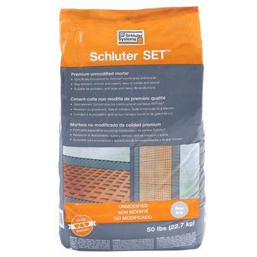 Schluter Set unmodified thinset