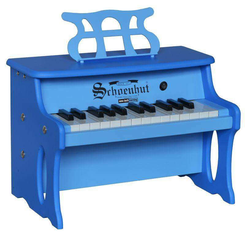 25 Key Two-Toned Blue Digital Tabletop Piano - Cashmere Bébé