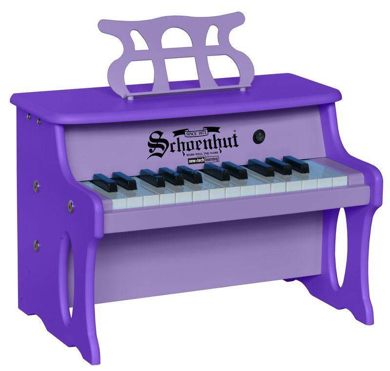 25 Key Two-Toned Purple Digital Tabletop Piano - Cashmere Bébé