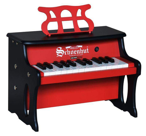 25 Key Two-Toned Red & Black Digital Tabletop Piano - Cashmere Bébé