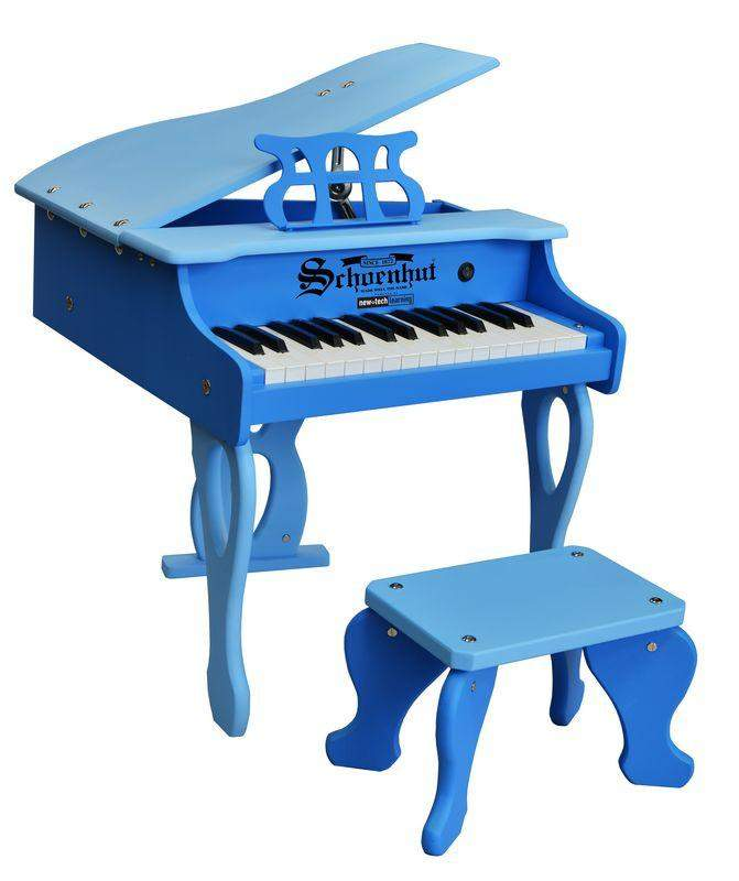 30-Key Two-Tone Blue Digital Baby Grand Piano - Cashmere Bébé