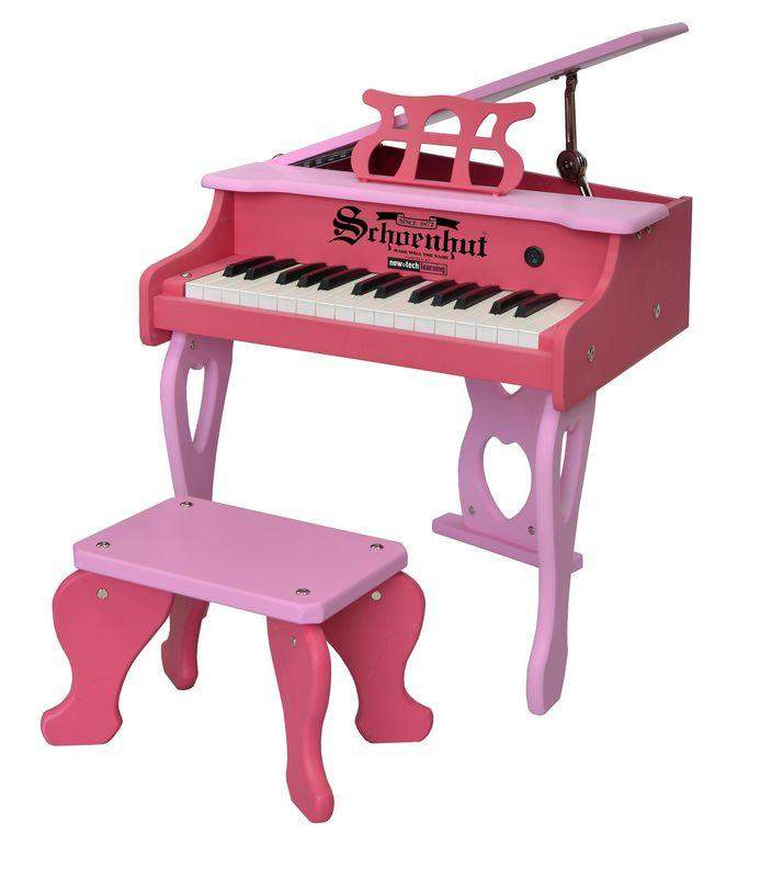 30-Key Two-Tone Pink Digital Baby Grand Piano - Cashmere Bébé