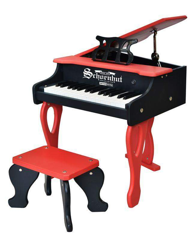 30-Key Two-Tone Red & Black Digital Baby Grand Piano - Cashmere Bébé