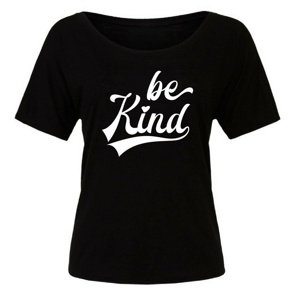 Be Kind Women's Flowy Raglan T-Shirt