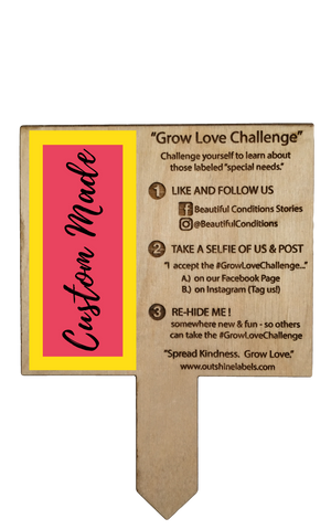 Custom made Garden Marker for the #GrowLoveChallenge