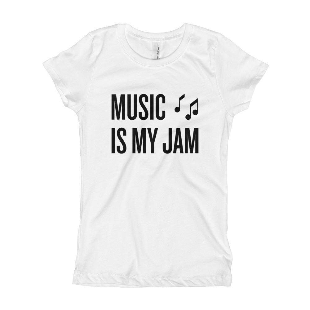 Music is my Jam Girl's Slim + Fitted