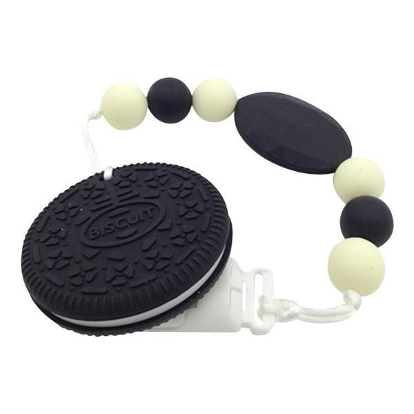 Oreo Biscuit Silicone Teether - Cashmere Bébé - 1