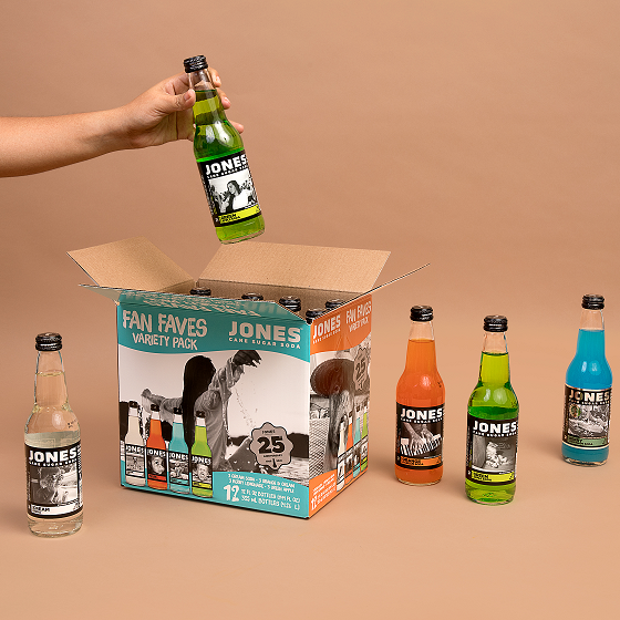 *NEW* Jones Soda Fan Faves Variety 12-pack