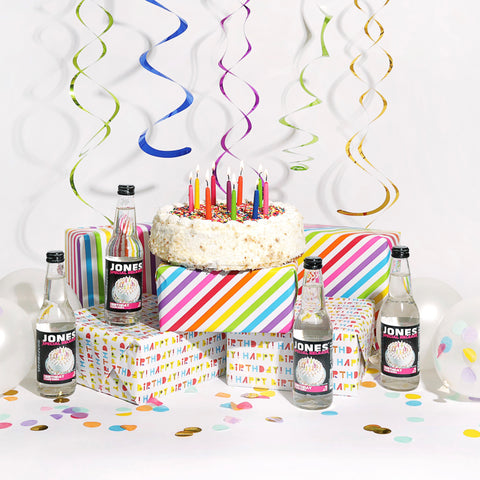 🎂12-pack JONES Special Release Birthday Cake Soda