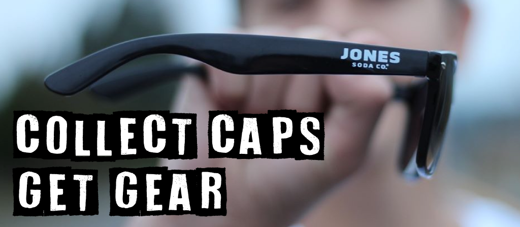 Collect caps and get Jones Soda gear