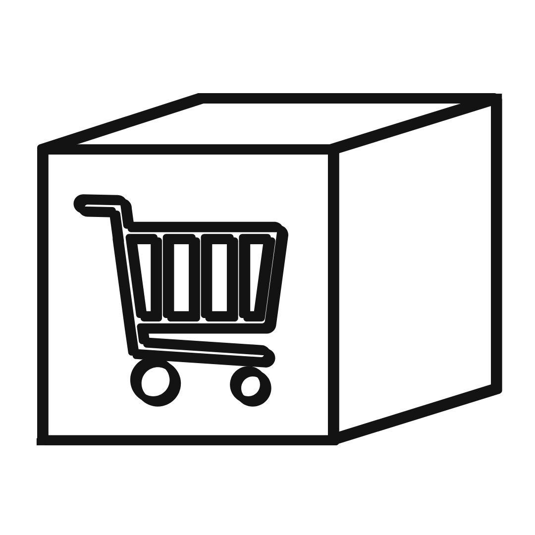 cart on box icon image