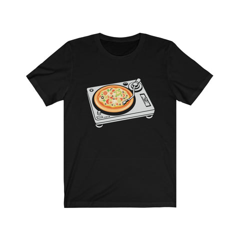 Pizza Scratch Turntable Unisex Jersey Short Sleeve Tee