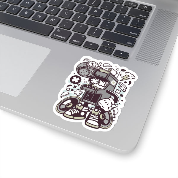 Arcade Boombox Kid Kiss-Cut Stickers
