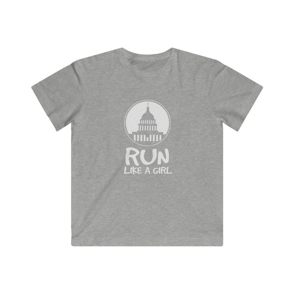 Run Like a Girl Kids Fine Jersey Tee