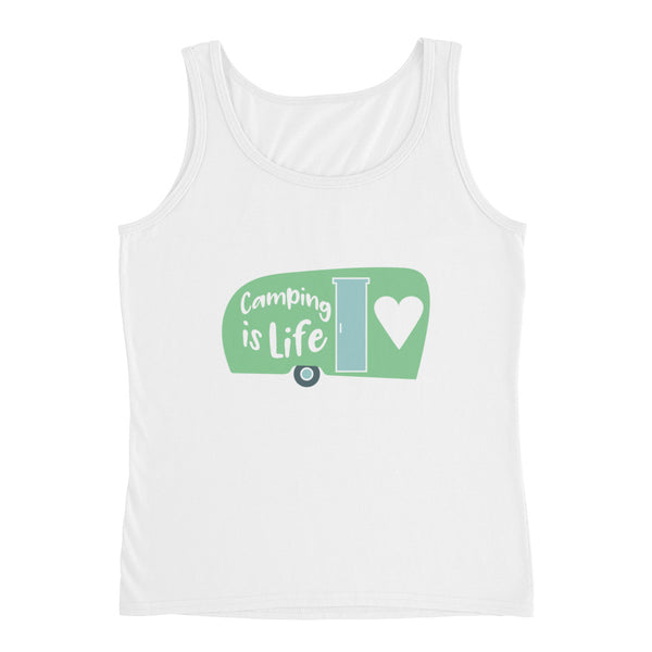 Camping is Life Ladies' Tank - Apparelized