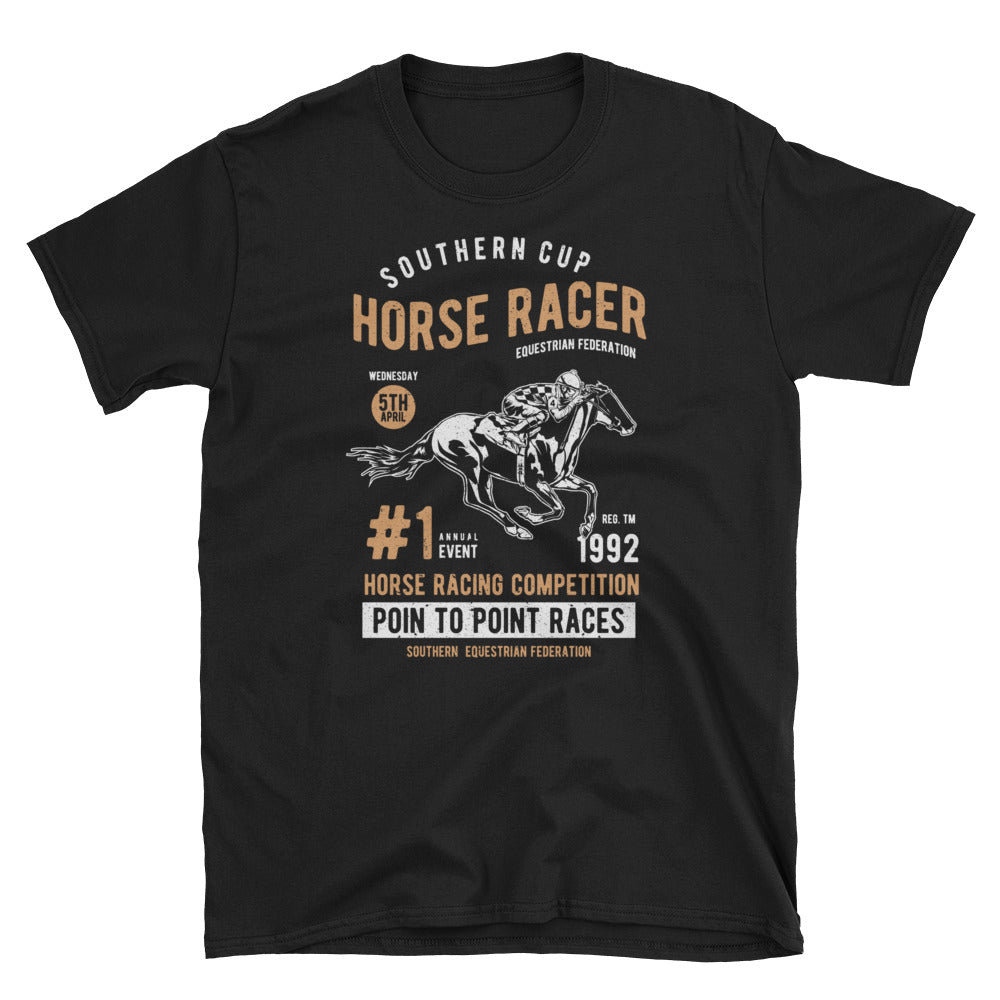 Horse Racing Short-Sleeve Unisex T-Shirt - Apparelized