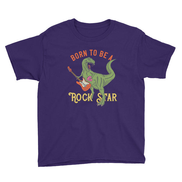 Born To Be a Rock Star Dinosaur Youth Short Sleeve T-Shirt