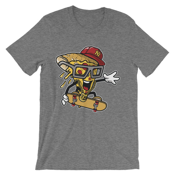 Pizza Skater Unisex short sleeve t-shirt - Apparelized