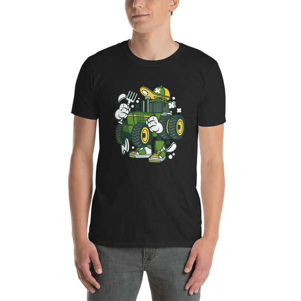 Green Tractor Short-Sleeve Unisex T-Shirt - Apparelized