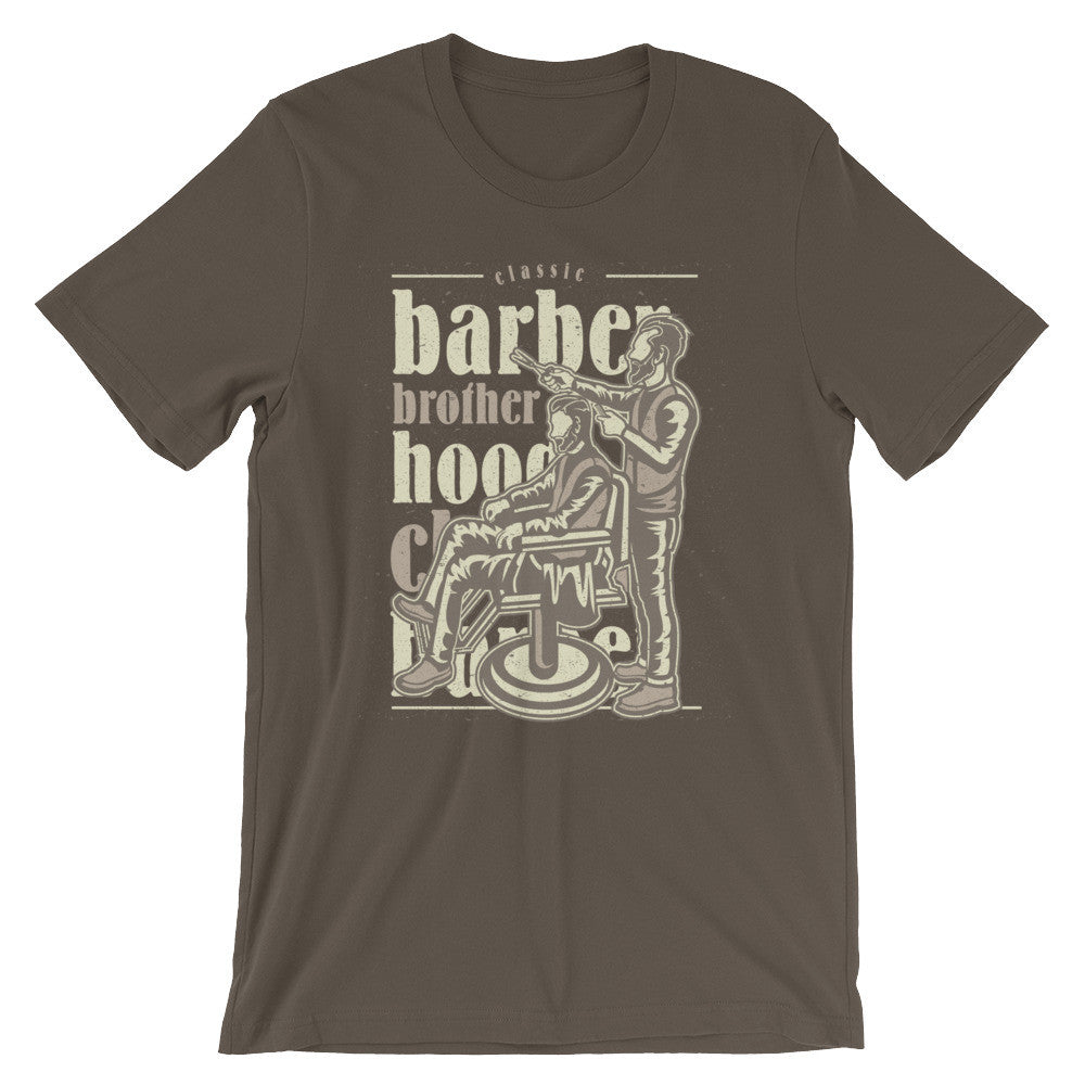 Barber Brotherhood Unisex short sleeve t-shirt - Apparelized