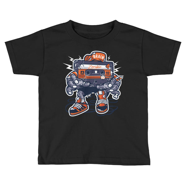 Zombie Cassette Toddler Short Sleeve T-Shirt - Apparelized