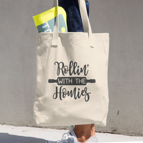 Rollin' With the Homies Cotton Grocery Re-usable Tote Bag - Apparelized