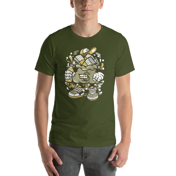 Gangsta Money Bag Short-Sleeve Unisex T-Shirt - Apparelized