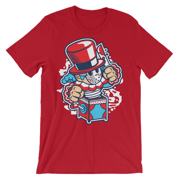 Jack in the Box Unisex short sleeve t-shirt - Apparelized
