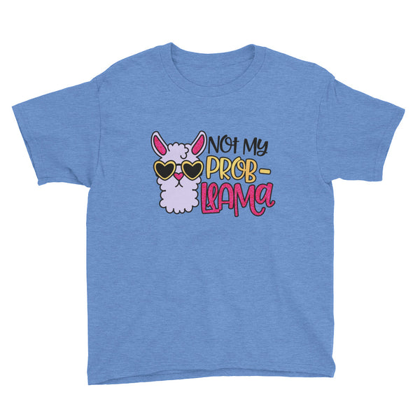 Not My Prob-Llama Youth Short Sleeve T-Shirt - Apparelized
