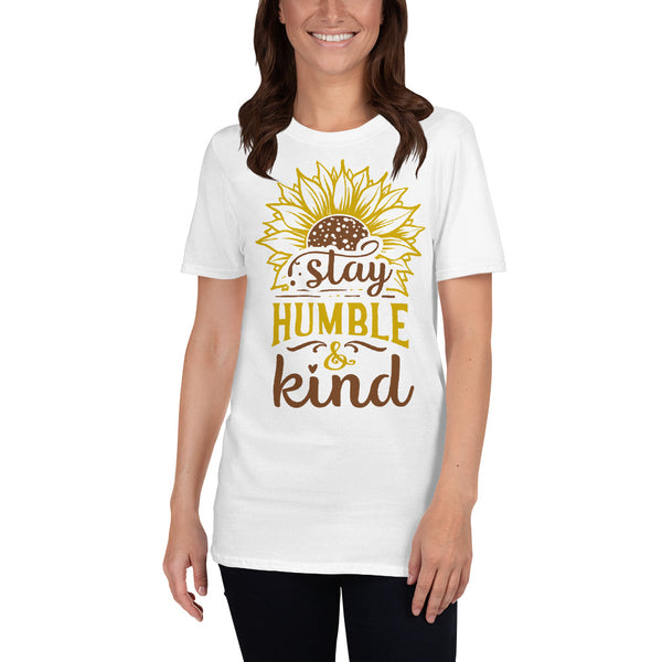 Stay Humble and Kind Sunflower Short-Sleeve Unisex T-Shirt