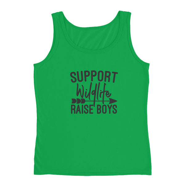 Support Wildlife, Raise Boys Ladies' Tank - Apparelized