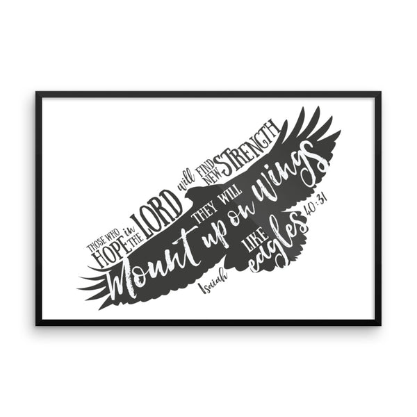 They Will Mount up on Wings Framed poster - Apparelized