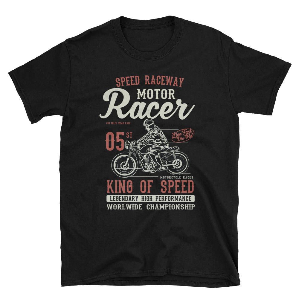 Cafe Racer King of Speed Unisex T-Shirt - Apparelized