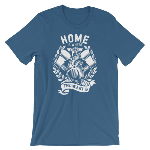 Home is Where the Heart Is Short-Sleeve Unisex T-Shirt - Apparelized