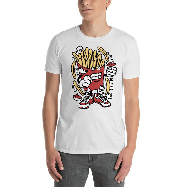 Angry French Fry Cartoon Dude Graphic Tee