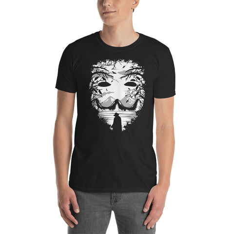 Anonymous Mask Short-Sleeve Unisex T-Shirt - Apparelized