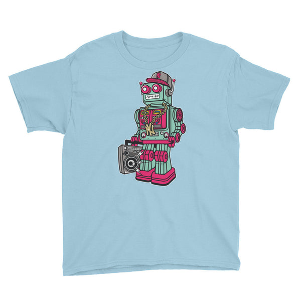 Boombox Robot Youth Short Sleeve T-Shirt - Apparelized